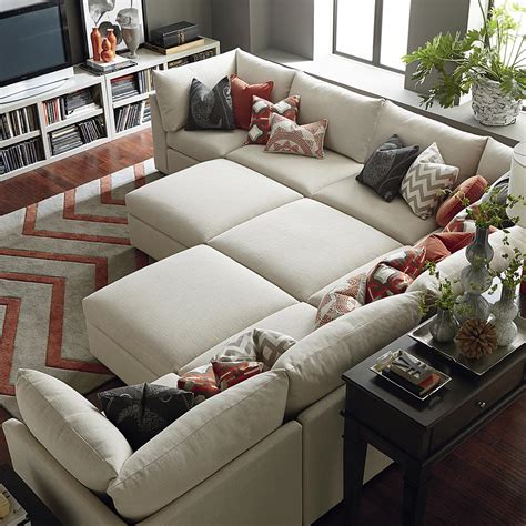 Sectional Sofas With Ottoman by Beckham Ottoman Living Room Bassett Furniture