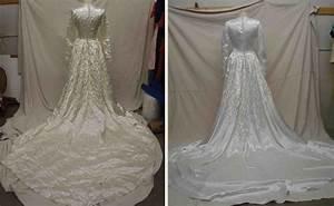 photo gallery of vintage wedding gown restorations With wedding dress restoration