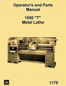 Jet  Enco  Msc  Asian 1550 T Metal Lathe Instructions  U0026 Parts Manual
