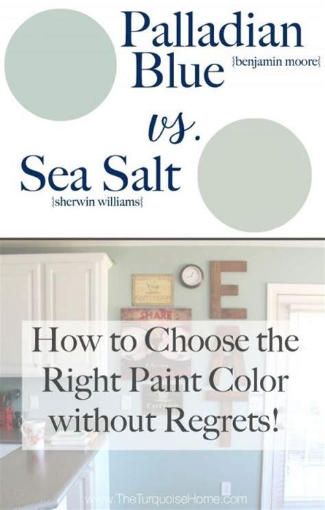 sea salt vs palladian blue choose paint colors without