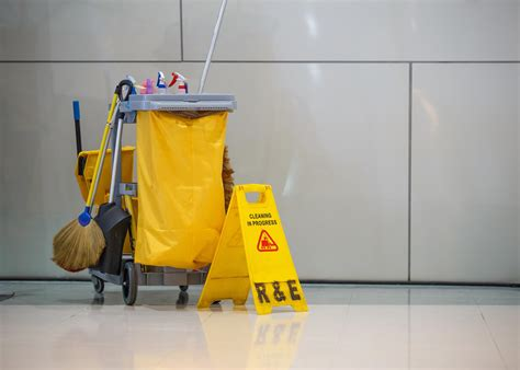janitorial supplies organized