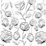 Coloring Shower Curtains Marwa Floral Prints sketch template