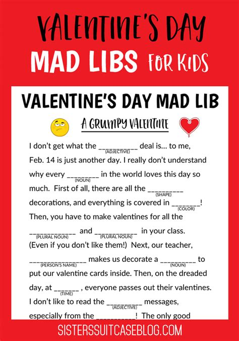 s day mad libs for kids