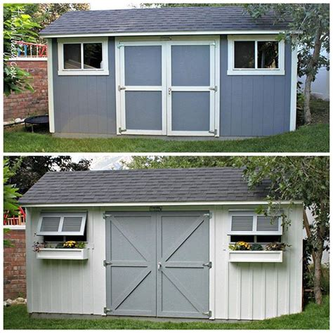 our tuff shed got some new makeup and accessories come