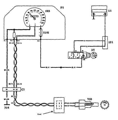 volvo 940 1993 wiring diagrams volvo 940 1993 1994 wiring diagrams speedometer carknowledge