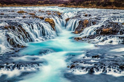 Bruarfoss Waterfall Guide To Iceland