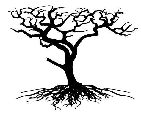 family tree with roots clipart clip tree with roots clipart panda free clipart images