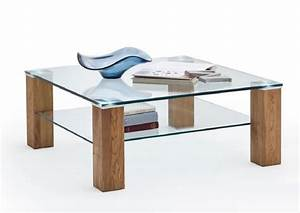 Table Verre Bois : table basse plateau verre pied bois table haute objets decoration maison ~ Teatrodelosmanantiales.com Idées de Décoration