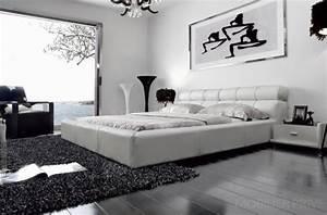 Lit 180x200 Blanc : lit adulte en cuir de luxe mobilier priv ~ Teatrodelosmanantiales.com Idées de Décoration