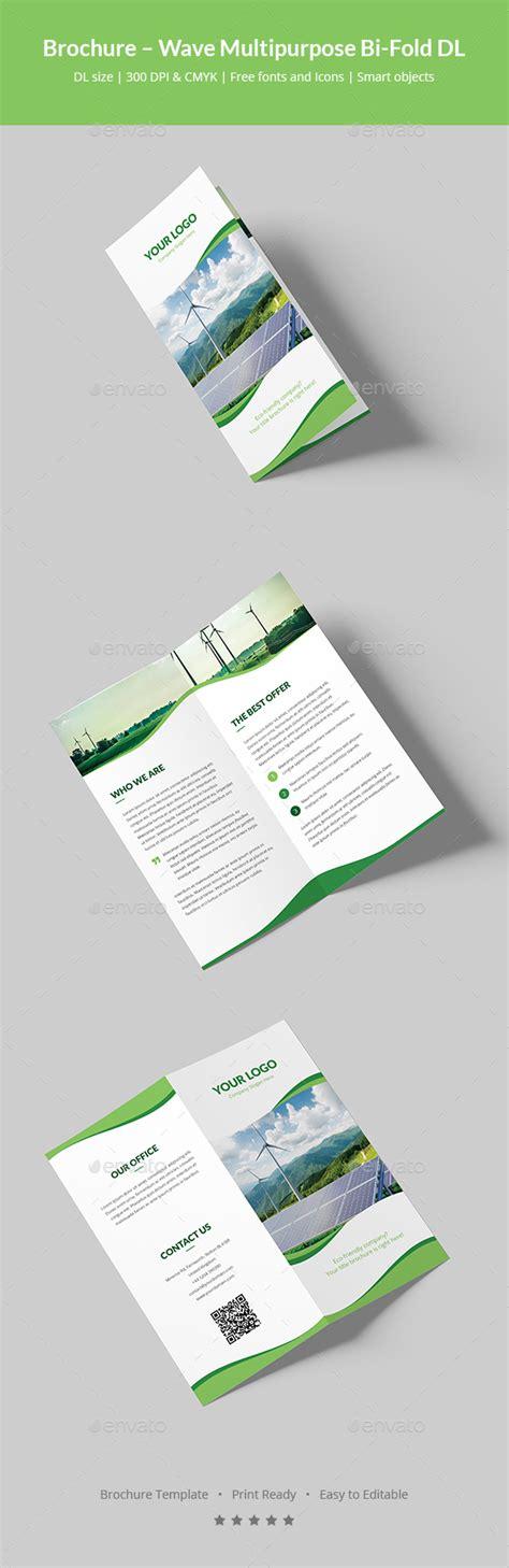 Dl Brochure Template by Brochure Wave Multipurpose Bi Fold Dl By Artbart