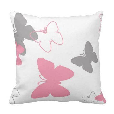 pink grey butterfly pillow zazzlecom throw pillows