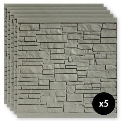 simtek  ft   ft ecostone gray composite fence panel pack fpxgry  home depot
