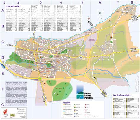 Mairie Ville De Plan De Plan De Ville Et Accès Genis Pouilly