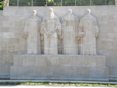 The Reformation Wall Monument In Geneva Switzerland