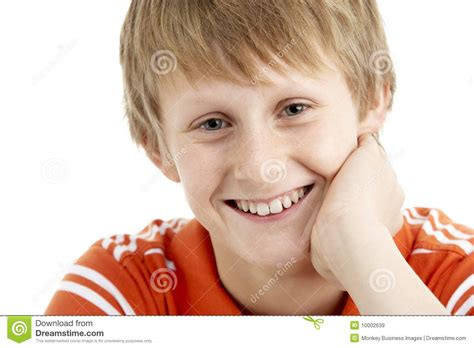 Portrait Of Smiling 12 Year Old Boy Stock Image - Image of ...