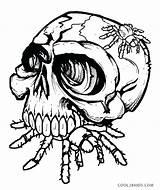 Coloring Skull Pages Skulls Spider Sugar Printable Crossbones Fire Roses Bones Drawing Evil Spiderman Eat Tattoo Pdf Monkey Adult Halloween sketch template
