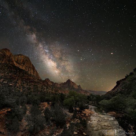 Watchman Milky Way By Tom Elenbaas—zion National Park, Utah