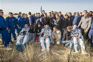 Soyuz capsule returns from space station