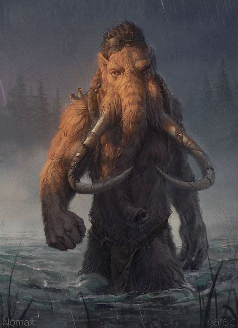 anthropomorphic mammoth fantasy monster fantasy