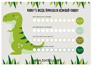 Personalised Dinosaur Chore Chart Instant Download