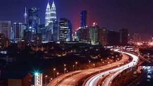 Kuala Lumpur At Night Malaysia Hd Wallpaper For Desktop ...