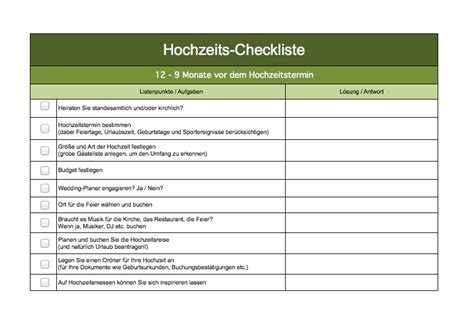 urlaubs checkliste kostenlos checkliste hochzeit als excel vorlage excel vorlagen f 252 r