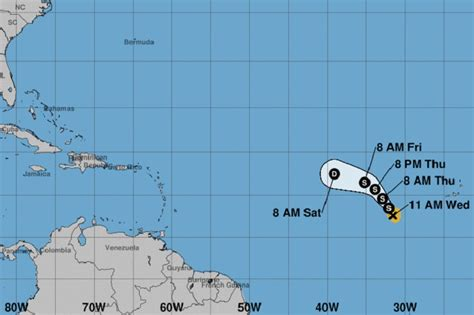 caribbean tropical storm nadine forms  forecasters don