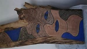 Suprieur Peinture Acrylique Sur Bois Brut 3 Peinture