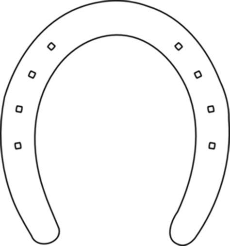Horse Shoe Outline Clip Art at Clker.com - vector clip art ...