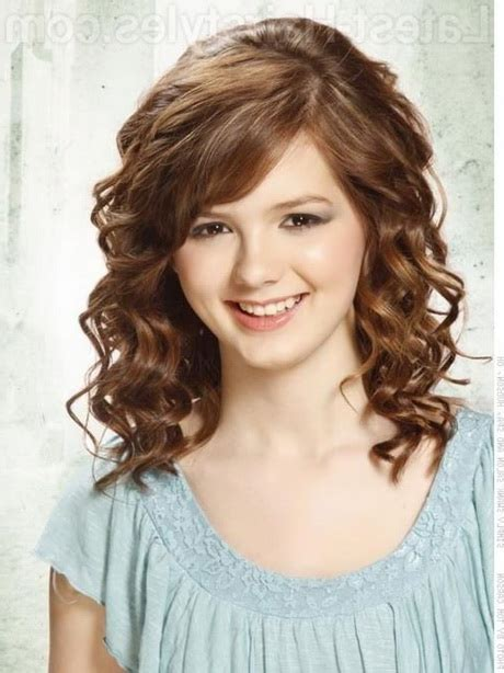 medium length haircuts  curly hair