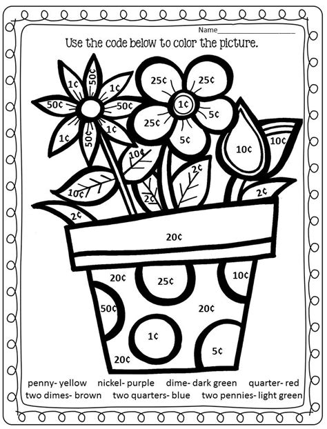 Spring Coloring Sheets For First Grade  The Art Jinni