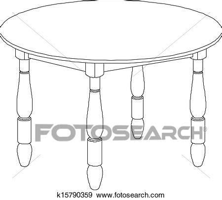 Clipart  Table Ronde, Dessin K15790359  Recherchez Des