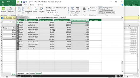 pivot table in excel 2016 create calculated columns in power pivot in excel 2016