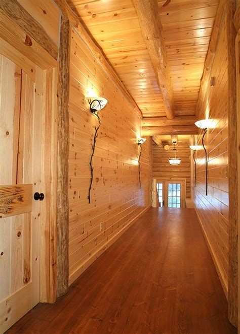 knotty red pine paneling tongue groove woodhaven log