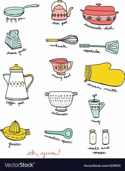Doodles Cooking Kitchen Vector Vectorstock