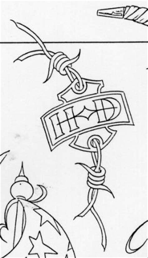 Harley Davidson Initials Tattoo and Blueprint - Paperblog