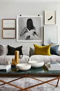Salon Gris Et Rose : 1001 id es de d cors avec couleur moutarde des conseils ~ Melissatoandfro.com Idées de Décoration