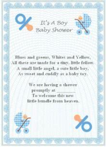 baby boy poem ideas baby shower invitation baby boy