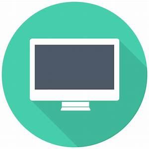 iMac Icon | Free Flat Multimedia Iconset | DesignBolts
