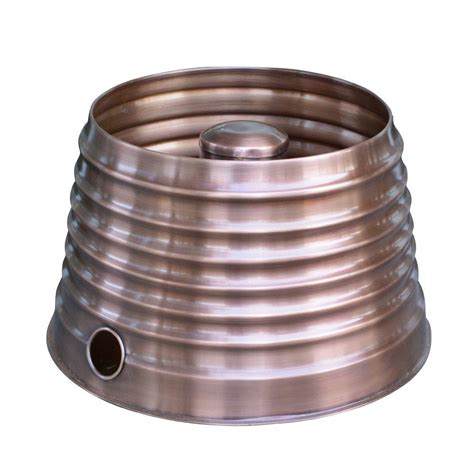 hose pot 18 in round tapered ribbed hose pot in copper ds 11692 the home depot