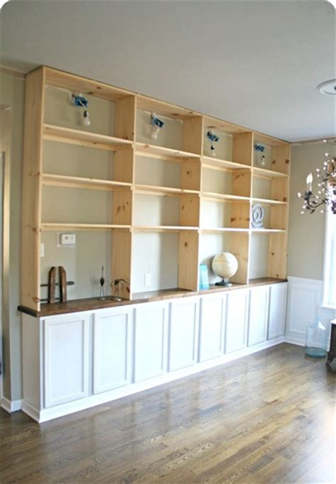 build built in bookcase 40 easy diy bookshelf plans guide patterns