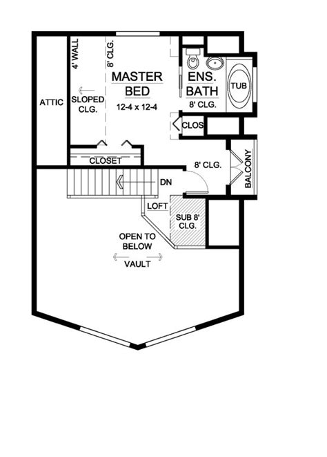 Contemporary Style House Plan 99946 with 2 Bed 2 Bath
