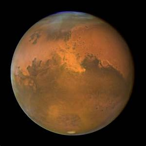 Hubble view of Mars. Image credit: Hubble