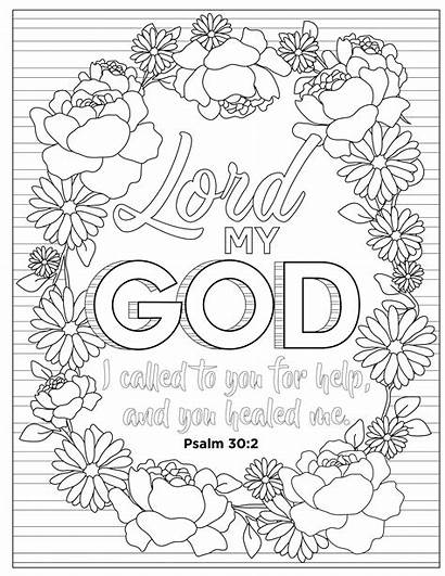 Coloring Adult Bible Psalms Psalm Relaxing Quiet