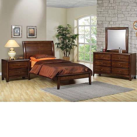 Dreamfurniturecom  Phoenix Collection Bedroom Set Walnut