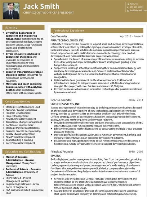 Corporate Cv Template by Cv Templates 20 Options To Improve Your Cv Visualcv