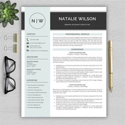 professional and modern resume template for word cv template for word creative resume