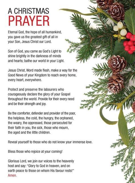christmas prayer prayer and christmas on pinterest