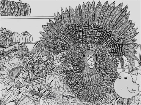 thanksgiving turkey adult coloring pages coloring page gray