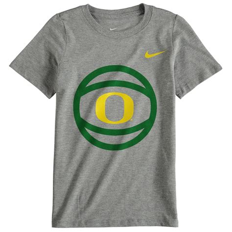 preschool nike gray oregon ducks basketball  logo  shirt